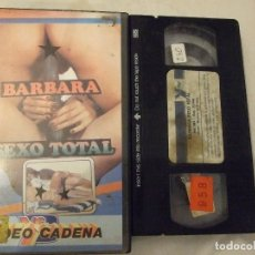 Peliculas: VHS - BARBARA SEXO TOTAL - VCTV UNICA. Lote 180872658