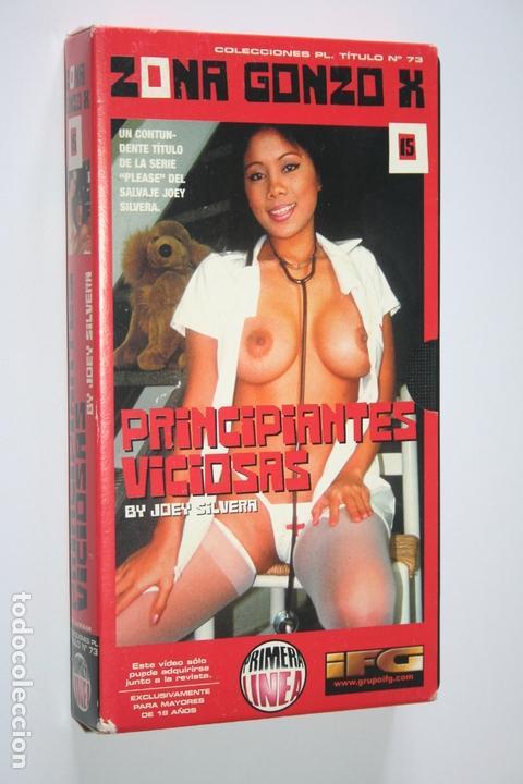 PRINCIPIANTES VICIOSAS *** ZONA GONZO X *** VHS EROTICO (Coleccionismo para Adultos - Películas)