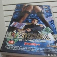 Peliculas: PERVERSIONES DE UN MILLONARIO DVD 120 MINUTOS. Lote 190306575