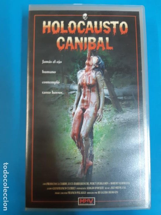 CINE PORNO. CINE ADLTOS. CINE X .HOLOCAUSTO CANIBAL. VIDEO VHS. DESCATALOGADO. MITICA (Coleccionismo para Adultos - Películas)