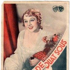 Peliculas: FOLLETO PUBLICITARIO DEL FILM L' OPERA DE QUAT SOUS 1931. Lote 192750310