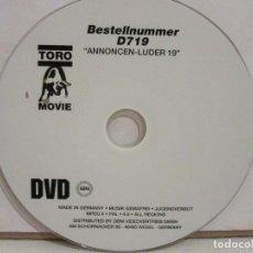 Peliculas: ANNONCEN-LUDER 19 - DVD - IMPORTACIÓN ALEMANIA - XXX - TORO MOVIE - GERMANY - G. Lote 193052528
