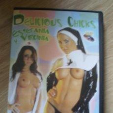 Peliculas: DVD PORNO. DELICIOUS CHICKS ESTEFANIA Y VIRGINIA. ORIGINAL. PERFECTO VISIONADO. Lote 194266936
