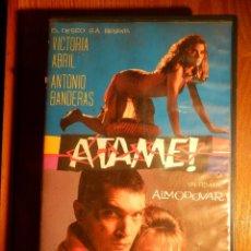 Peliculas: ATAME! - PEDRO ALMODOVAR - 1990 - CAJA GRANDE - VICTORIA ABRIL, ANTONIO BANDERAS -LAUREN VIDEO HOGAR. Lote 194639910