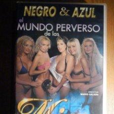 Peliculas: PELICULA ADULTOS VHS - EL MUNDO PERVERSO DE LAS MISS - NEGRO & AZUL - SALIERI. Lote 194906656