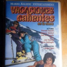 Peliculas: PELÍCULA ADULTOS VHS - VACACIONES CALIENTES EN LA NIEVE - MARIO SALIERI - NEGRO & AZUL. Lote 195442310