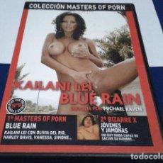 Peliculas: DVD ADULTOS PRIMERA LINEA MASTERS OF PORN 2 PELICULAS ( BLUE RAIN - JÓVENES Y JAMONAS ) EROTICA - X. Lote 195765148