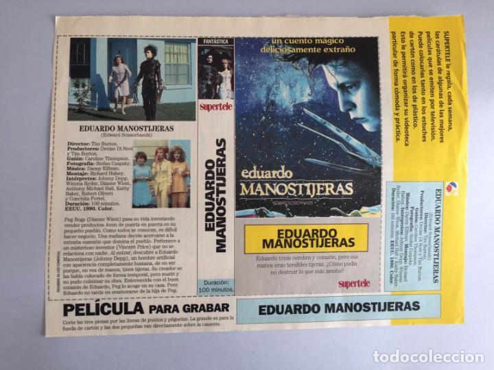 CARATULA VÍDEO VHS SUPERTELE EDUARDO MANOSTIJERAS (Coleccionismo para Adultos - Películas)