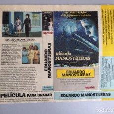 Peliculas: CARATULA VÍDEO VHS SUPERTELE EDUARDO MANOSTIJERAS. Lote 229603665