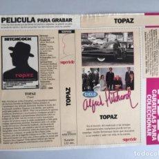 Peliculas: CARATULA VÍDEO VHS SUPERTELE ALFRED HITCHCOCK TOPAZ. Lote 196049227