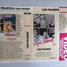 Peliculas: CARATULA VÍDEO VHS SUPERTELE ALFRED HITCHCOCK LOS PAJAROS. Lote 196049376