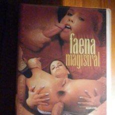Peliculas: PELICULA ADULTOS VHS - FAENA MAGISTRAL - PAPILLON FILMS. Lote 196573742