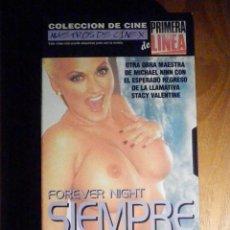 Peliculas: PELICULA ADULTOS VHS - MAESTROS DEL CINEX Nº 14 - SIEMPRE DE NOCHE. Lote 197119533