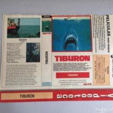Peliculas: CARATULA VÍDEO VHS SUPERTELE TIBURON. Lote 200530548