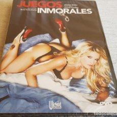 Peliculas: JUEGOS INMORALES / JESSICA DRAKE-NIKKI BENZ / DVD - PRECINTADO.. Lote 202423586