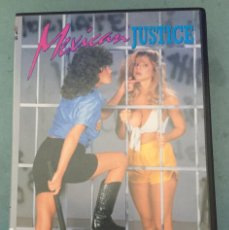 Peliculas: MEXICAN JUSTICE - PERVERSION FILMS - VHS - CINE X - 2001. Lote 202601846