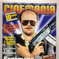 Peliculas: CINEMANIA N° 121 (2005). ESPECIAL 10 AÑOS CINEMANIA, TORRENTE, JAMES DEAN, CINE PORNO,.... Lote 206875768