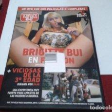 Peliculas: DVD ADULTOS PRIMERA LINEA 2 PELICULAS ( FASHION Y VICIOSAS DE LA 3ª EDAD ) EROTICA BRIGITTE BUI. Lote 207566397