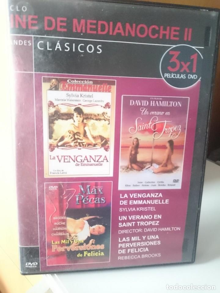 DVD COLECCIONISMO PARA ADULTOS - CINE DE MEDIANOCHE II - 3 PEILICULAS - VER FOTO (Coleccionismo para Adultos - Películas)