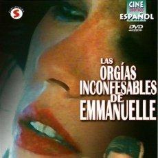 Peliculas: DVD LAS ORGÍAS INCONFESABLES DE EMMANUELLE. Lote 208325896