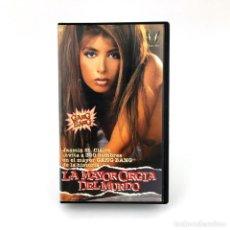 Peliculas: LA MAYOR ORGIA DEL MUNDO JASMIN ST. CLAIRE GUINESS WORLD RECORD GANG BANG JOHN T. BONE PORNO SEX VHS. Lote 218651175