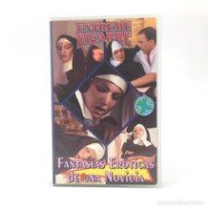 Peliculas: FANTASIAS EROTICAS DE UNA NOVICIA EXTREME BIZARRE ESPECIAL MONJAS PORNO SODOMIA SEXO HARD CINE X VHS. Lote 218988475