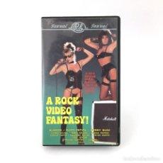 Peliculas: XTV A ROCK VIDEO FANTASY BUNNY BLEU CANDIE EVANS BLONDI PATTI PETITE NIKKI CHARM CHRISTY CANYON VHS. Lote 219340326