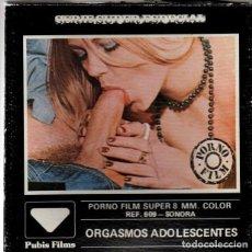 Peliculas: PORNO FILM SUPER 8 MM. COLOR ORGASMOS ADOLESCENTES. SERIE SUPER ESPECIAL. PUBIS FILMS. CINE ADULTOS. Lote 221431868