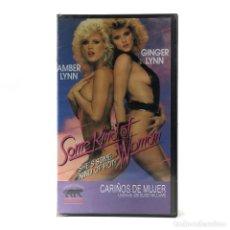Peliculas: CARIÑOS DE MUJER PRECINTADA GINGER LYNN AMBER JOANNA STORM HEATHER WAYNE COLLEEN BRENNAN WOMAN VHS. Lote 224689273
