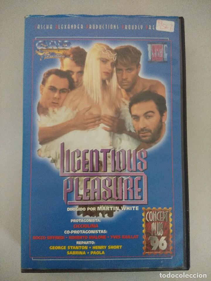 VHS EROTICO/LICENTIOUS PLEASURE-PLACER LICENCIOSO/CICCIOLINA/ILONA STALLER. (Coleccionismo para Adultos - Películas)