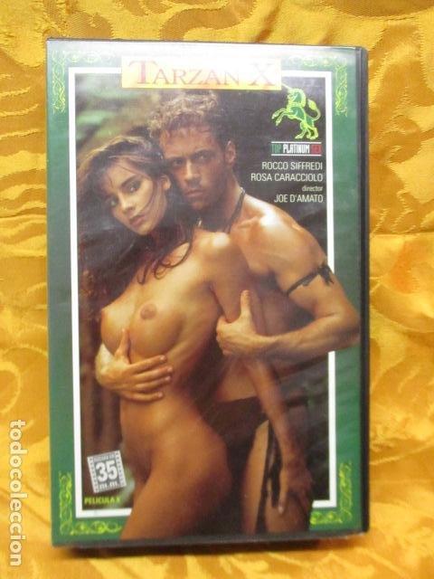 VHS EROTICO/TARZAN X/ROCCO SIFFREDI/ROSA CARACCIOLO. (Coleccionismo para Adultos - Películas)