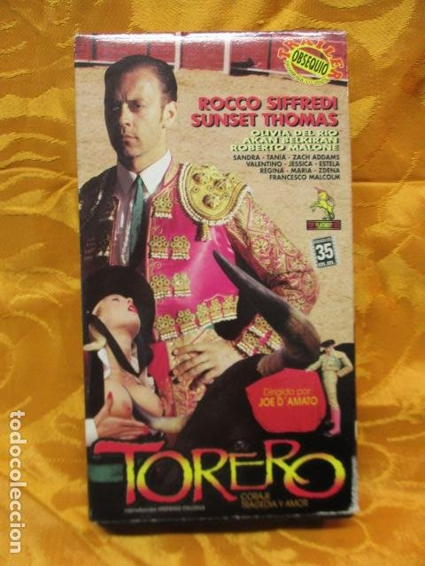 VHS EROTICO / TORERO / ROCCO SIFFREDI / SUNSET. (Coleccionismo para Adultos - Películas)