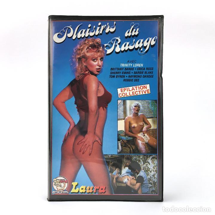 PLAISIRS DU RASAGE / TRINITY LOREN BRITTANY BARDO ERICA ROSS SHERRY EVANS BARBIE X MICHEL RICAUD VHS (Coleccionismo para Adultos - Películas)