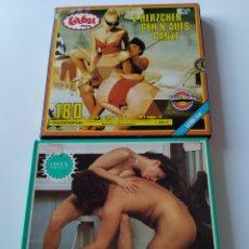 Peliculas: LOTE 2 PELÍCULAS SUPER 8 MM. ERÓTICAS, PORNO, TABU FILM Y ONYX FILM.. Lote 243026350