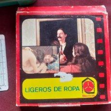 Peliculas: LIGEROS DE ROPA, CAJA ORIGINAL, AÑOS 70, SUPER 8. Lote 243620700