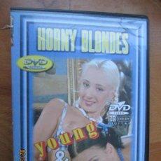 Peliculas: HORNY BLONDES - YOUNG & WILD - VERSION X PELICULA PORNO DVD SOLO ADULTOS. Lote 245306405
