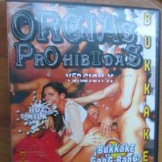 Peliculas: ORGIAS PROHIBIDAS - BUKKAKE - VERSION X PELICULA PORNO DVD SOLO ADULTOS. Lote 245307555