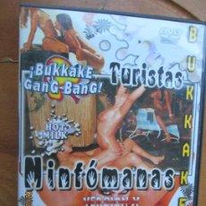 Peliculas: TURISTAS NINFOMANAS , BUKKAKE - VERSION X PELICULA PORNO DVD SOLO ADULTOS. Lote 245307815