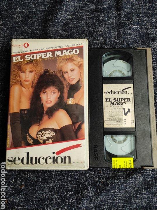 VHS EL SUPER MAGO ATHENA STAR , MINDY RAE - EROTISMO VINTAGE AÑOS 80 (Coleccionismo para Adultos - Películas)