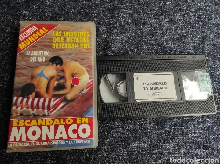 VHS ESCANDALO DE MONACO, LA PRINCESA EL GUARDAESPALDAS Y LA STRIPTEASE (Coleccionismo para Adultos - Películas)