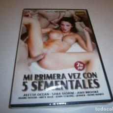 Filmes: PACK 57 CINE ADULTO DVD MI PRIMERA VEZ CON 5 SEMENTALES ALETTA OCEAN NUEVO PRECINTADO. Lote 248688900