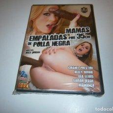 Filmes: PACK 16 CINE ADULTO DVD MAMAS EMPALADAS POR 35 CM DE POLLA NEGRA NUEVO PRECINTADO. Lote 265736114