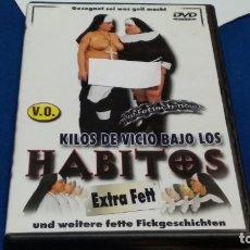 Film: DVD EROTICO X SOLO PARA ADULTOS ( KILOS DE VICIO BAJO LOS HABITOS - EXTRA FETT ) EDITA MJP. Lote 269002449