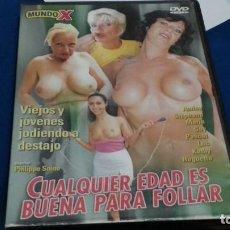 Film: DVD EROTICO X SOLO PARA ADULTOS ( CUALQUIER EDAD ES BUENA PARA FOLLAR ) EDITA MUNDO X. Lote 269004184
