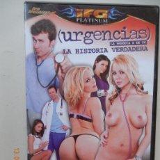 Films: URGENCIAS - LA PARODIA X DE LA TV - LA HISTORIA VERDADERA - DVD PORNO SOLO ADULTOS. Lote 269221108