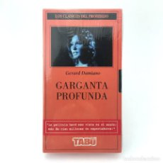 Peliculas: GARGANTA PROFUNDA PRECINTADA. LINDA LOVELACE DOLLY SHARP CAROL CONNORS GERARD DAMIANO 1972 PORNO VHS. Lote 269985188