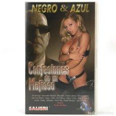 Peliculas: CONFESIONES DE UN MAFIOSO OLIVIA FARGO EMANUELE FABIANOT MOURIELLE ANNETTE X MARIO SALIERI VHS + DVD. Lote 280128678