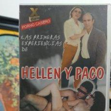 Peliculas: LAS PRIMERAS EXPERIENCIAS DE HELLEN Y PACO - VHS - SANDRA Y JUAN - PORNO CASERO - CANAL X. Lote 293801988