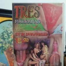 Peliculas: TRES MARRANAS - VHS - LUCA DAMIANO - INTERNATIONAL FILM GRUP. Lote 293806253