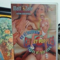 Peliculas: CHEERY POPPERS EN EL INSTITUTO - VHS - CULOS AL ROJO VIVO - MATT ZANE - SABRINA, MALITIA - IFG. Lote 293816713